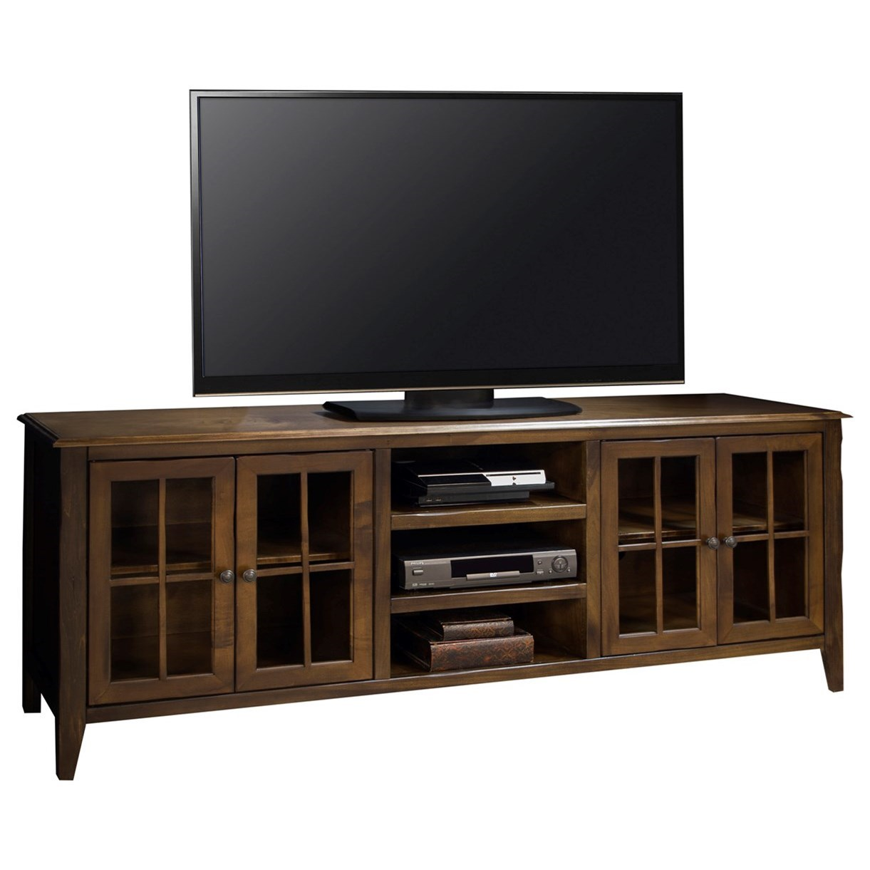 """Legends Furniture Brownstone Collection Brownstone 80"""" TV Console - Item Number: BS1280-RBB"""