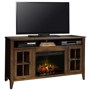 "Vendor 1356 Brownstone Collection Brownstone 60"" Fireplace Console"