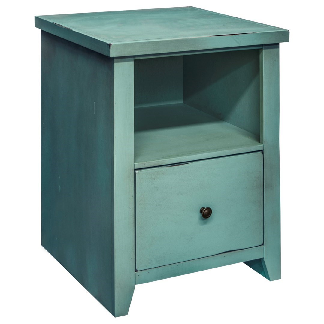 Legends Furniture Calistoga Collection Calistoga Blue File Cabinet - Item Number: CA6205-RBL