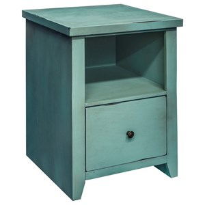 Vendor 1356 Calistoga Collection Calistoga Blue File Cabinet