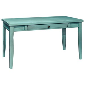 "Vendor 1356 Calistoga Collection Calistoga Blue 48"" Writing Table"