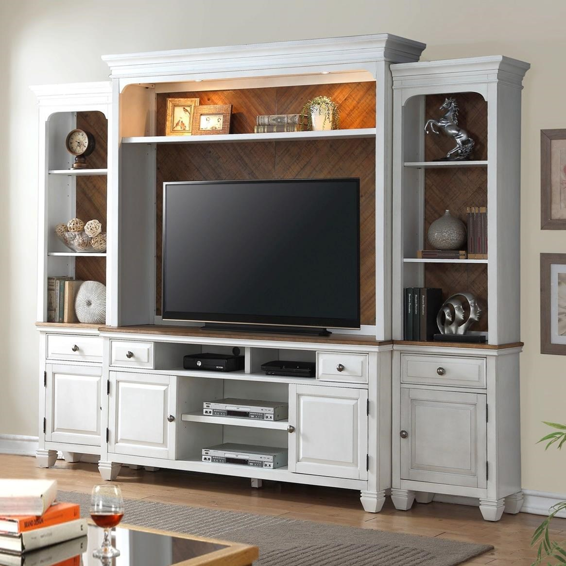 Legends Furniture Camden Collection Entertainment Wall Console - Item Number: ZCMD-1000