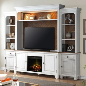 Legends Furniture Camden Collection Fireplace Entertainment Wall Console