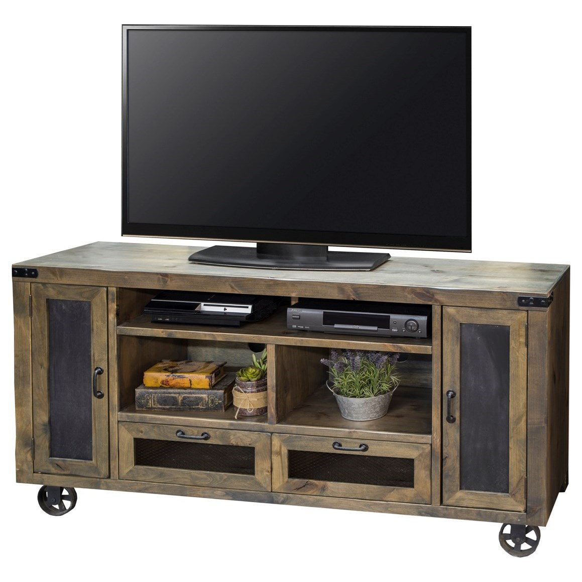 "Legends Furniture Cargo 66"" TV Console - Item Number: CO1466-BNW"