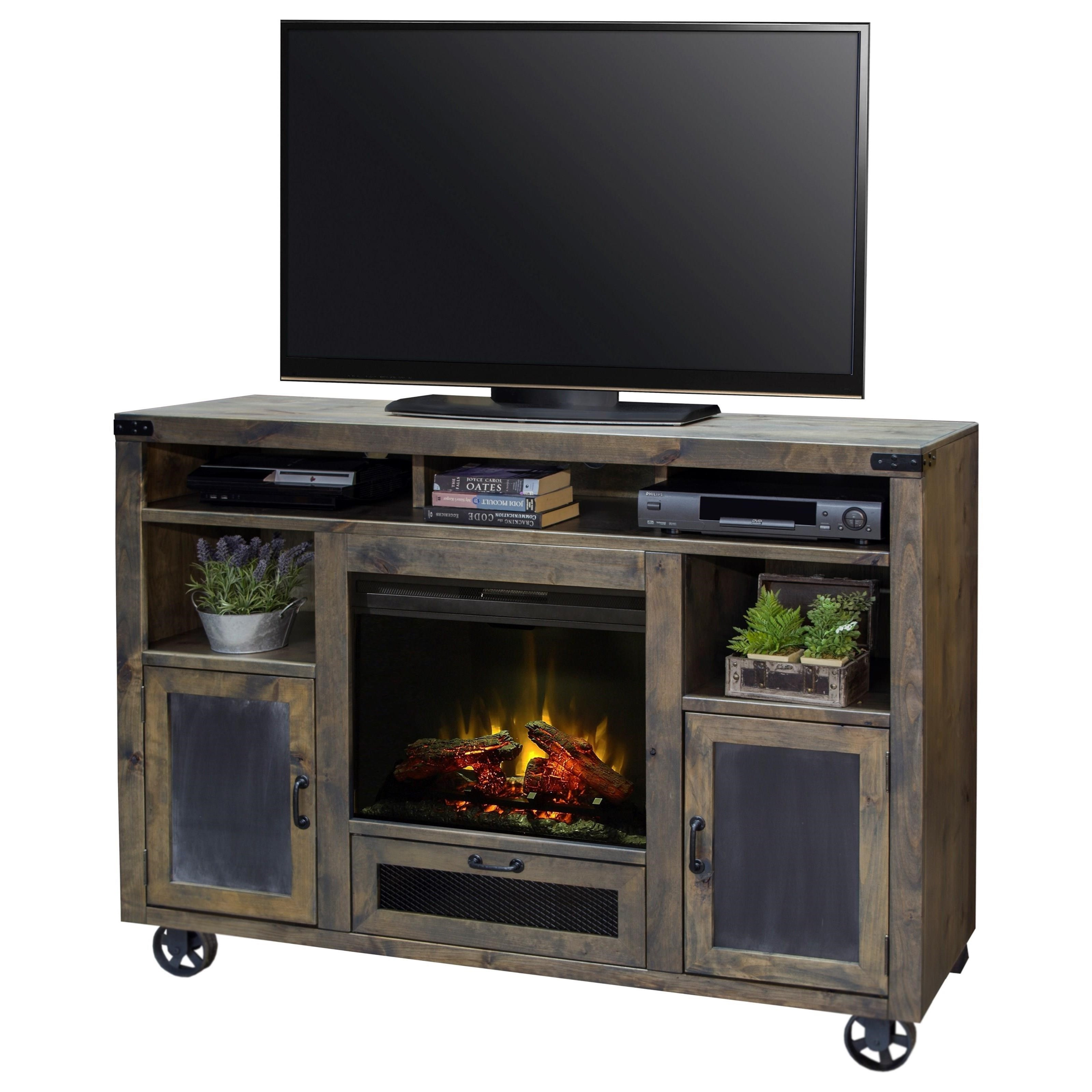 Legends Furniture Cargo 62 Quot Fireplace Console With Bottom