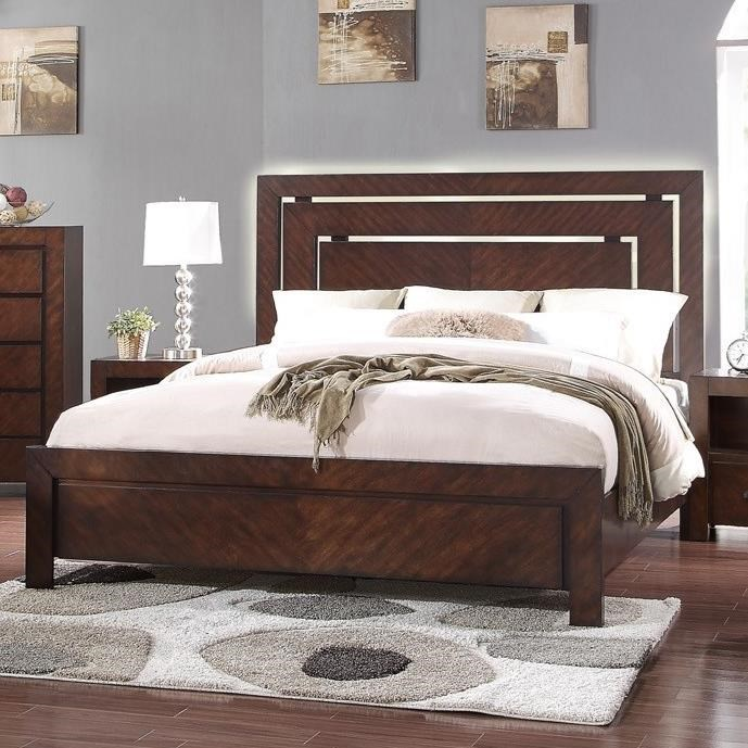 Legends Furniture City Lights Queen Panel Bed - Item Number: ZCTL-7001+7002+7003