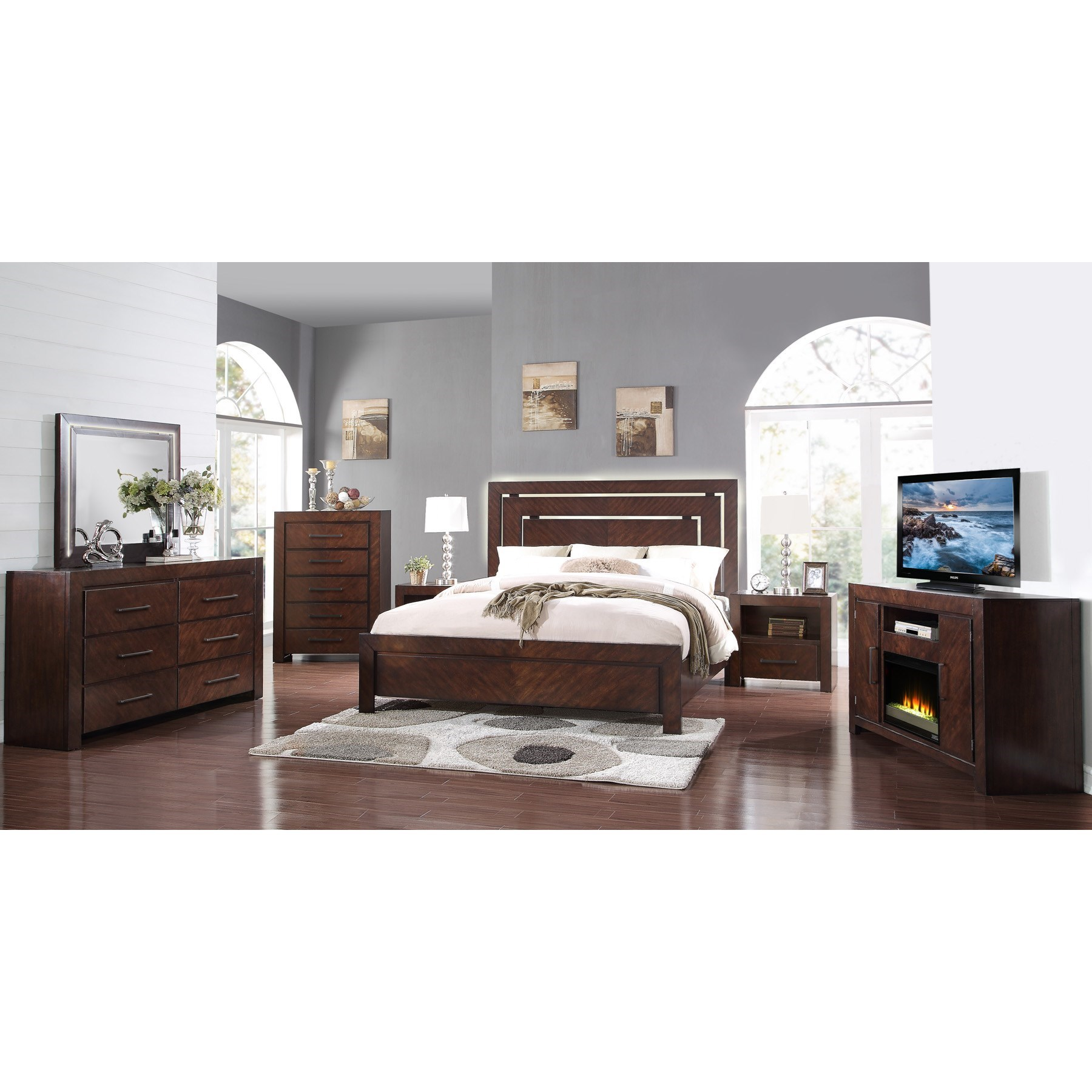 Track Lighting Bedroom Bedroom Chairs With Arms Bedroom Bench Restoration Hardware Warm Bedroom Colors Paint: Legends Furniture City Lights Six Drawer Dresser And