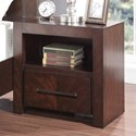Vendor 1356 City Lights Night Stand with USB Ports - Item Number: ZCTL-7015
