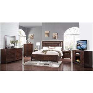 Legends Furniture City Lights 3 Piece Bedroom Set
