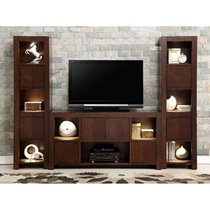 Legends Furniture City Lights City Lights Wall Unit with 2-Piers