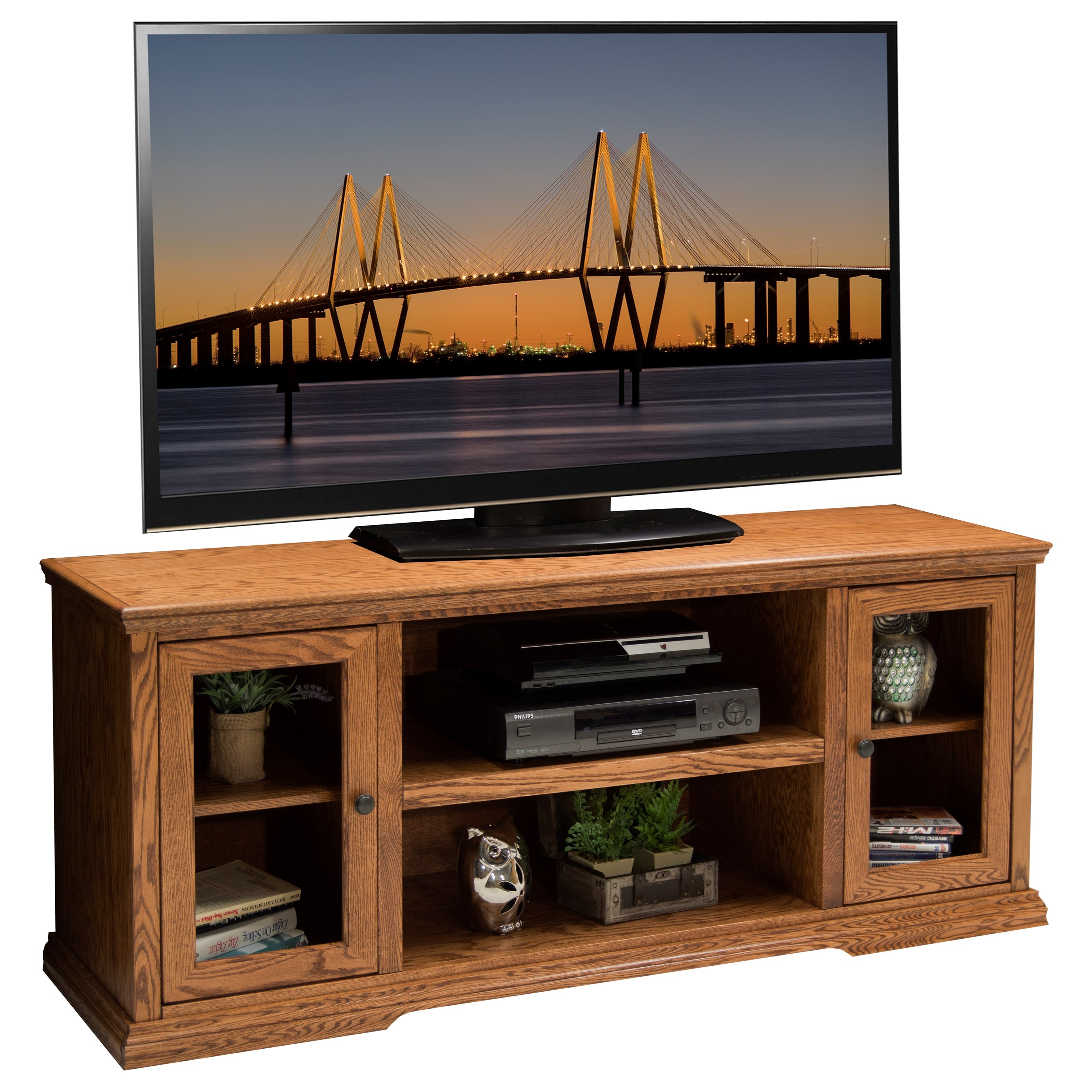 "Vendor 1356 Colonial Place 62"" TV Console - Item Number: CP1228.GDO"