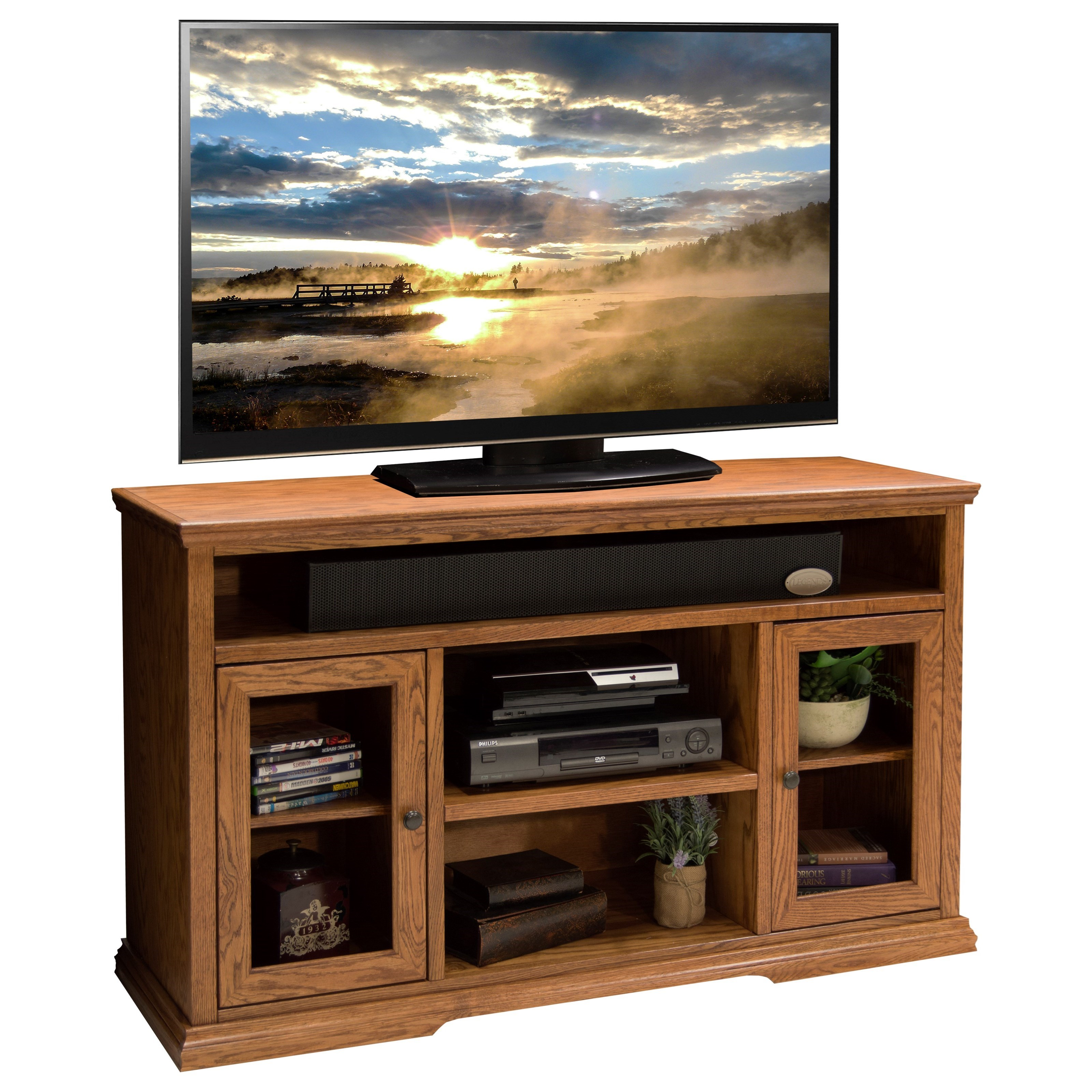 Ashton Place 62 Inch Tall Tv Cart Legends Furniture: Legends Furniture Colonial Place CP1327.GDO Two Door 54