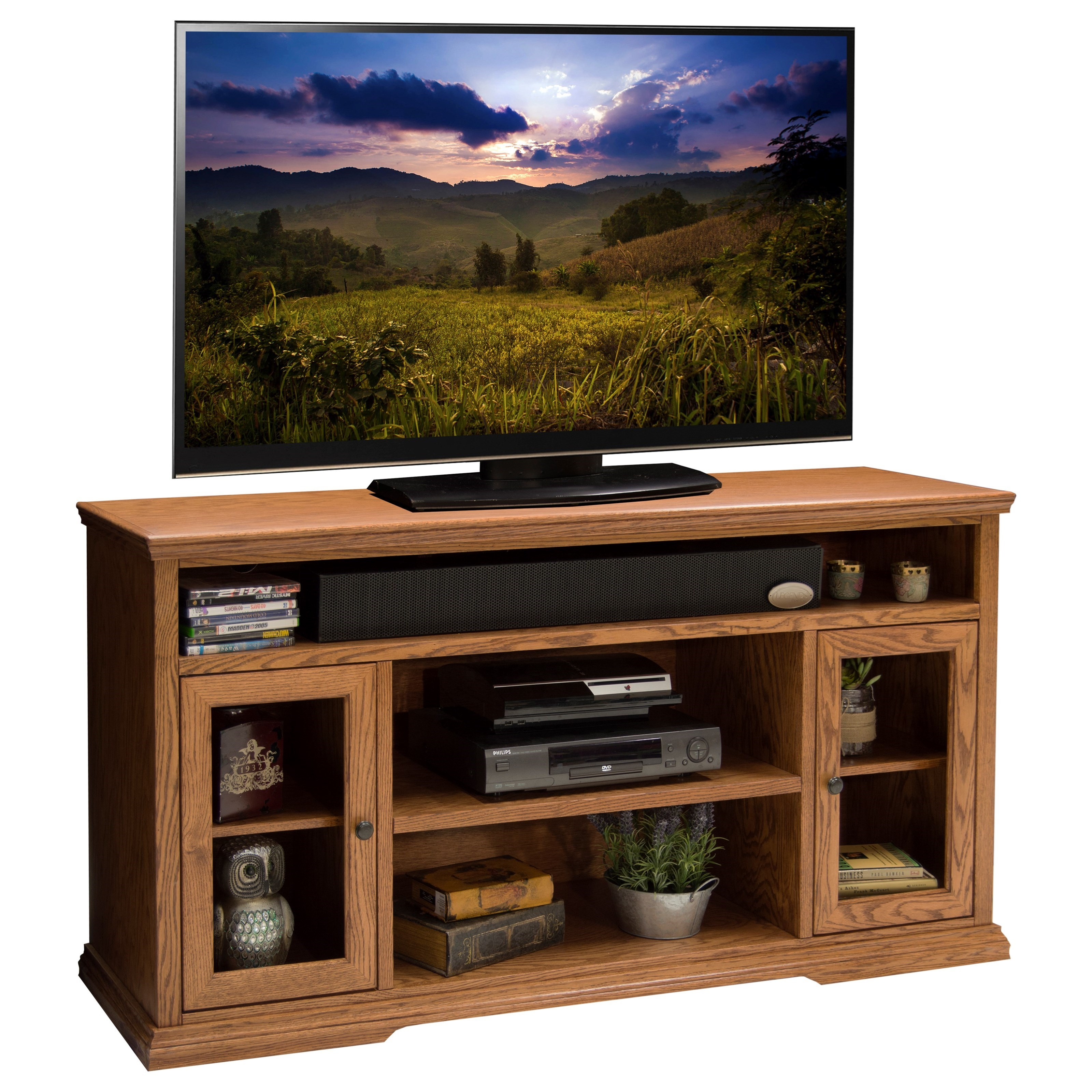 Legends Furniture Colonial Place  62-Inch TV Cart - Item Number: CP1328.GDO