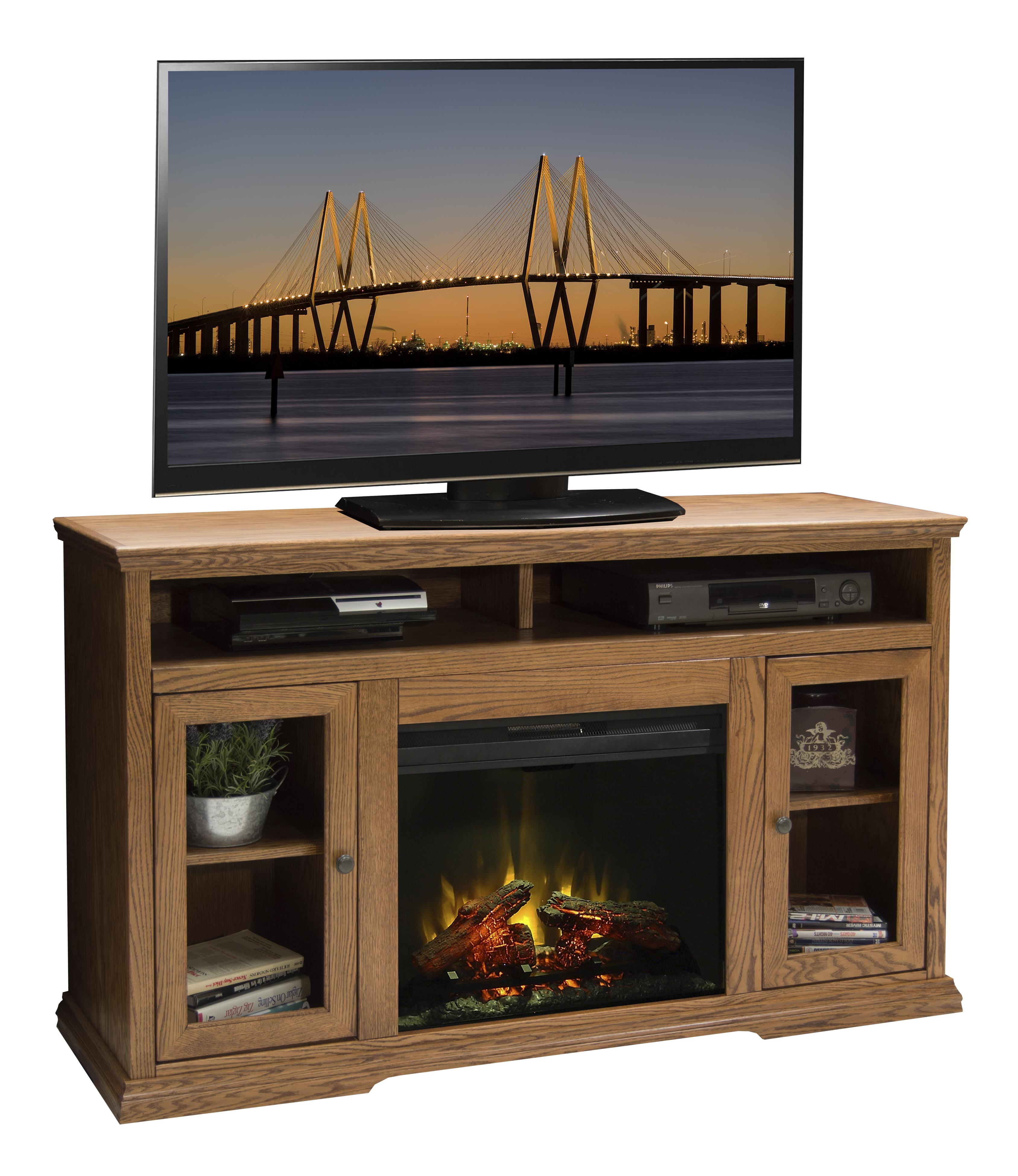 "Legends Furniture Colonial Place 59"" Fireplace TV Console - Item Number: CP5304.KIT"