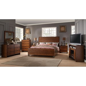 Vendor 1356 Crossgrain Collection King Bedroom Group