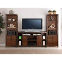 Vendor 1356 Crossgrain Collection Entertainment Wall Console - Item Number: ZCGN-1464+2x3000