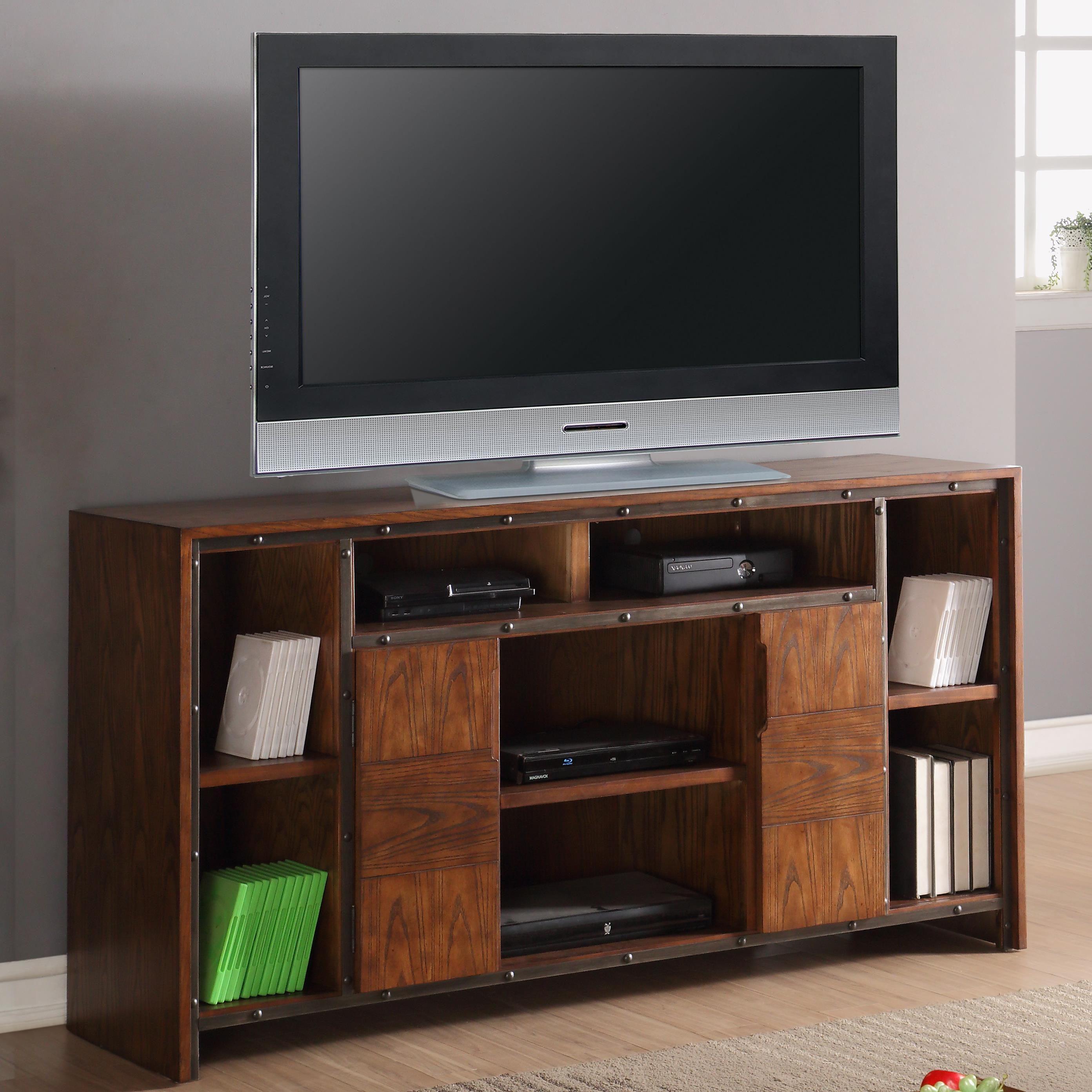 "Legends Furniture Crossgrain Collection 64"" TV Console - Item Number: ZCGN-1464"