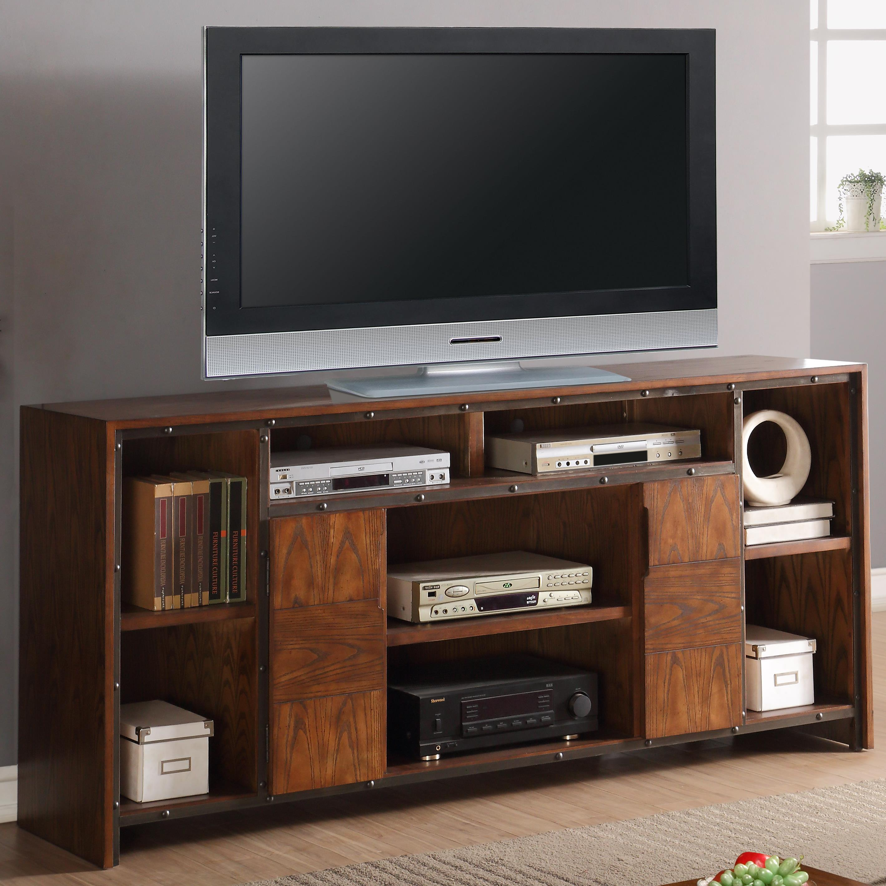 "Legends Furniture Crossgrain Collection 74"" TV Console - Item Number: ZCGN-1474"