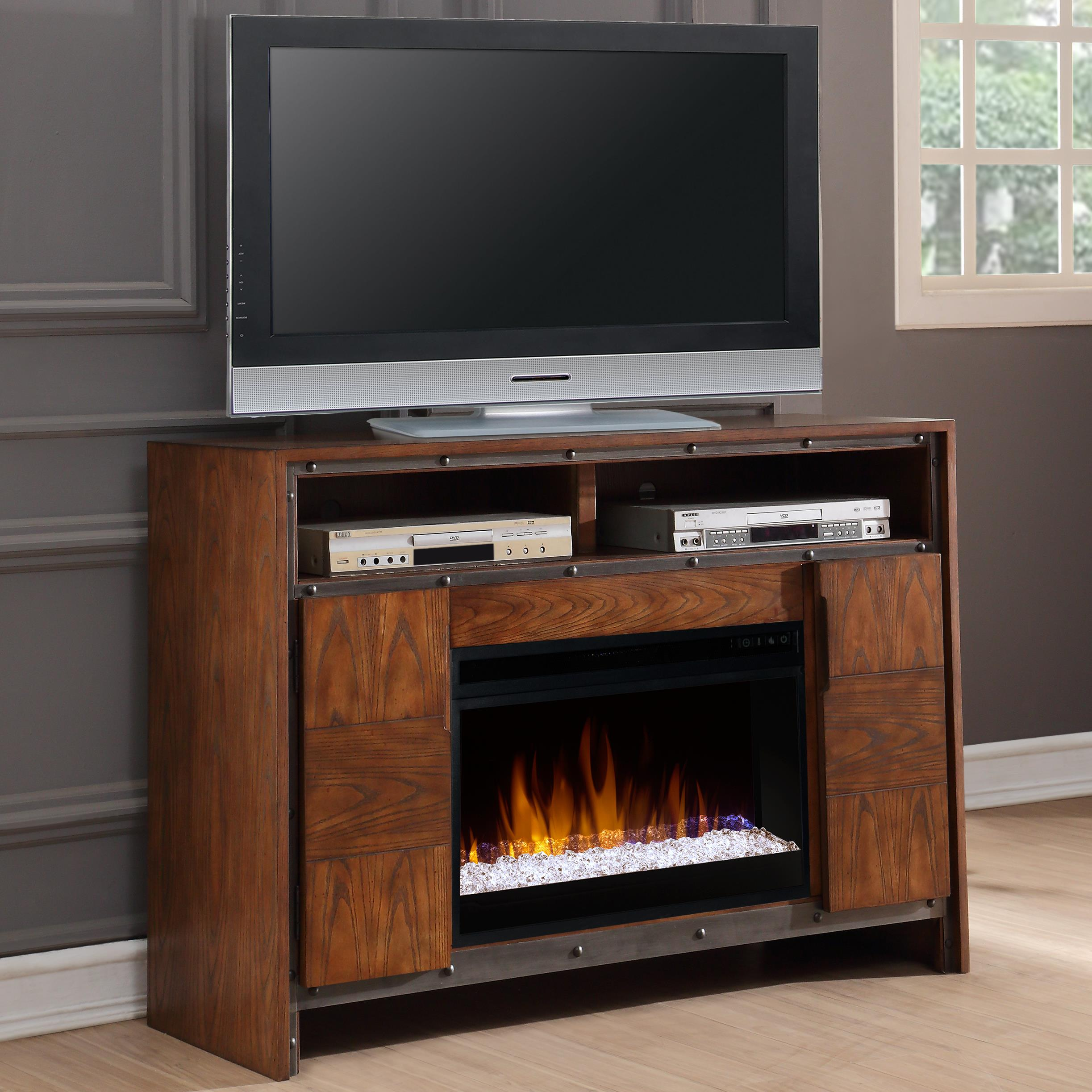 "Legends Furniture Crossgrain Collection 50"" Fireplace Console - Item Number: ZCGN-1950"