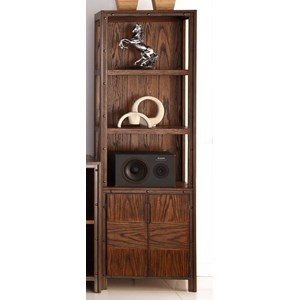 Legends Furniture Crossgrain Collection Bookcase Pier