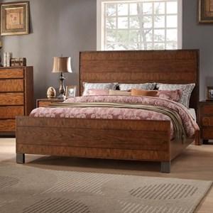 Legends Furniture Crossgrain Collection Crossgrain Queen Panel Bed