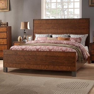 Legends Furniture Crossgrain Collection Crossgrain King Panel Bed