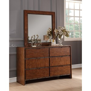 Legends Furniture Crossgrain Collection Dresser and Mirror