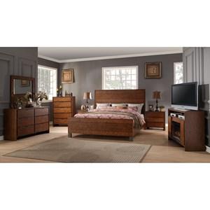 Legends Furniture Crossgrain Collection Queen Bedroom Group