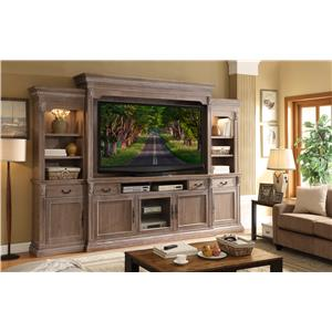 Legends Furniture Estancia Collection Entertainment Wall