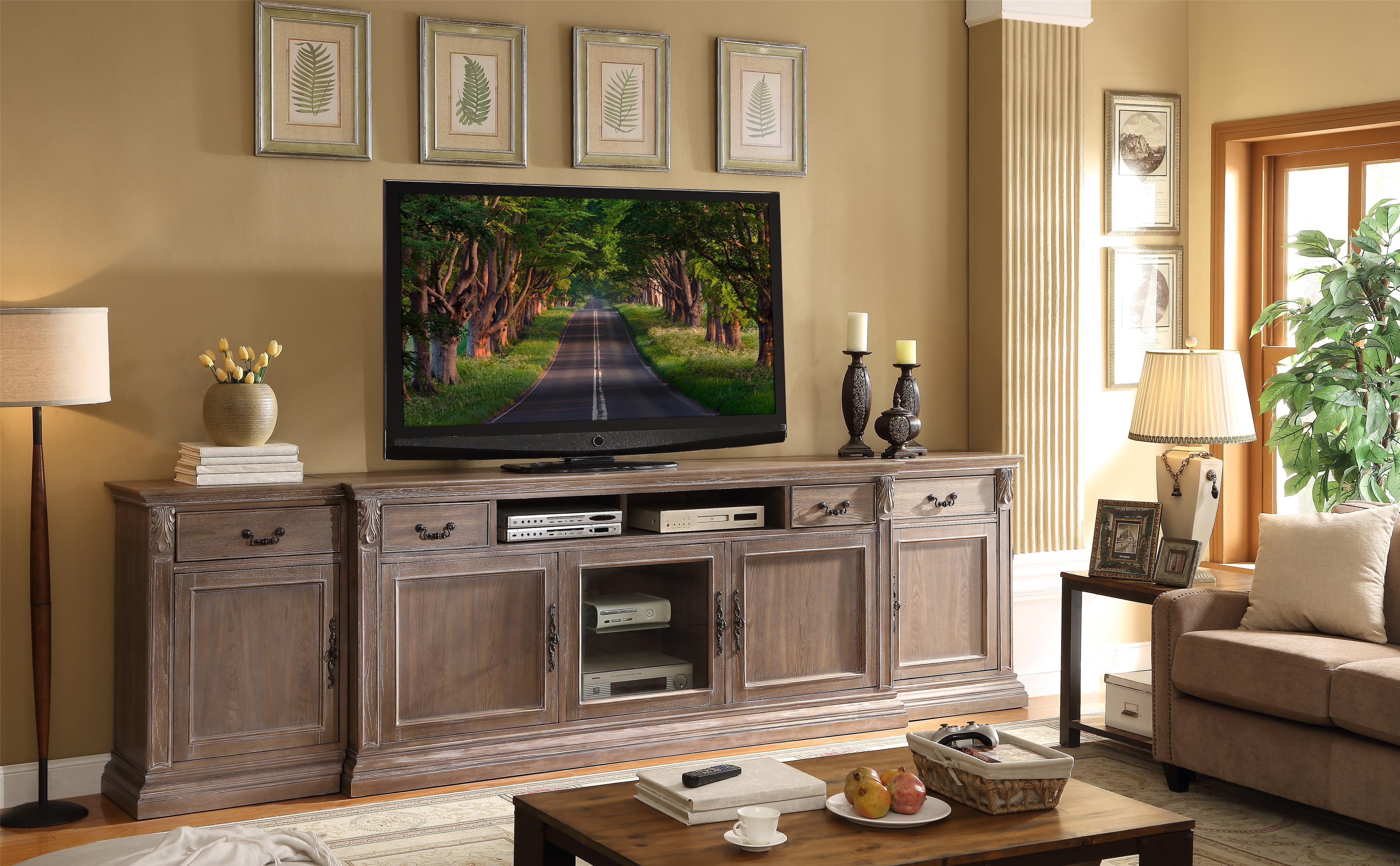 Legends Furniture Estancia Collection Entertainment Half Wall - Item Number: ZEST-1786+3001