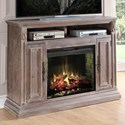 Vendor 1356 Estancia Collection Estancia Fireplace Media Console - Item Number: ZEST-1900
