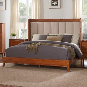 Legends Furniture Evo King Bed with Upholstered Headboard