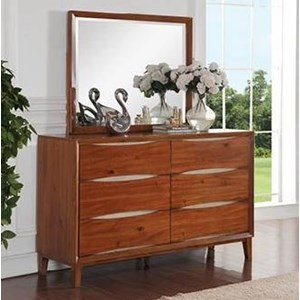 Legends Furniture Evo 6 Drawer Dresser and Mirror