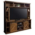 Legends Furniture Farmhouse Collection Entertainment Wall Console - Item Number: FH1415-AWY