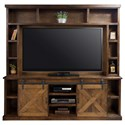 Legends Furniture Farmhouse Collection Entertainment Wall Console with Sliding Doors