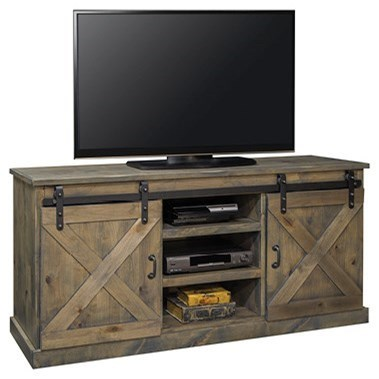 "Legends Furniture Farmhouse Collection Farmhouse 66"" TV Console - Item Number: FH1420-BNW"