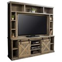 Legends Furniture Farmhouse Collection Entertainment Wall Console - Item Number: FH1425-BNW