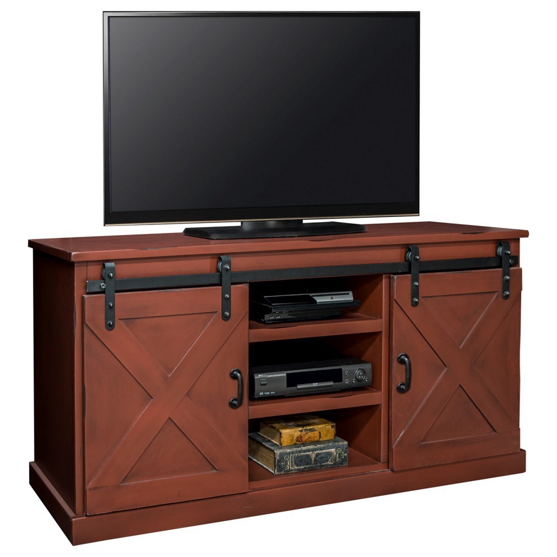"Legends Furniture Farmhouse Collection Farmhouse 66"" TV Console - Item Number: FH1430-RRD"
