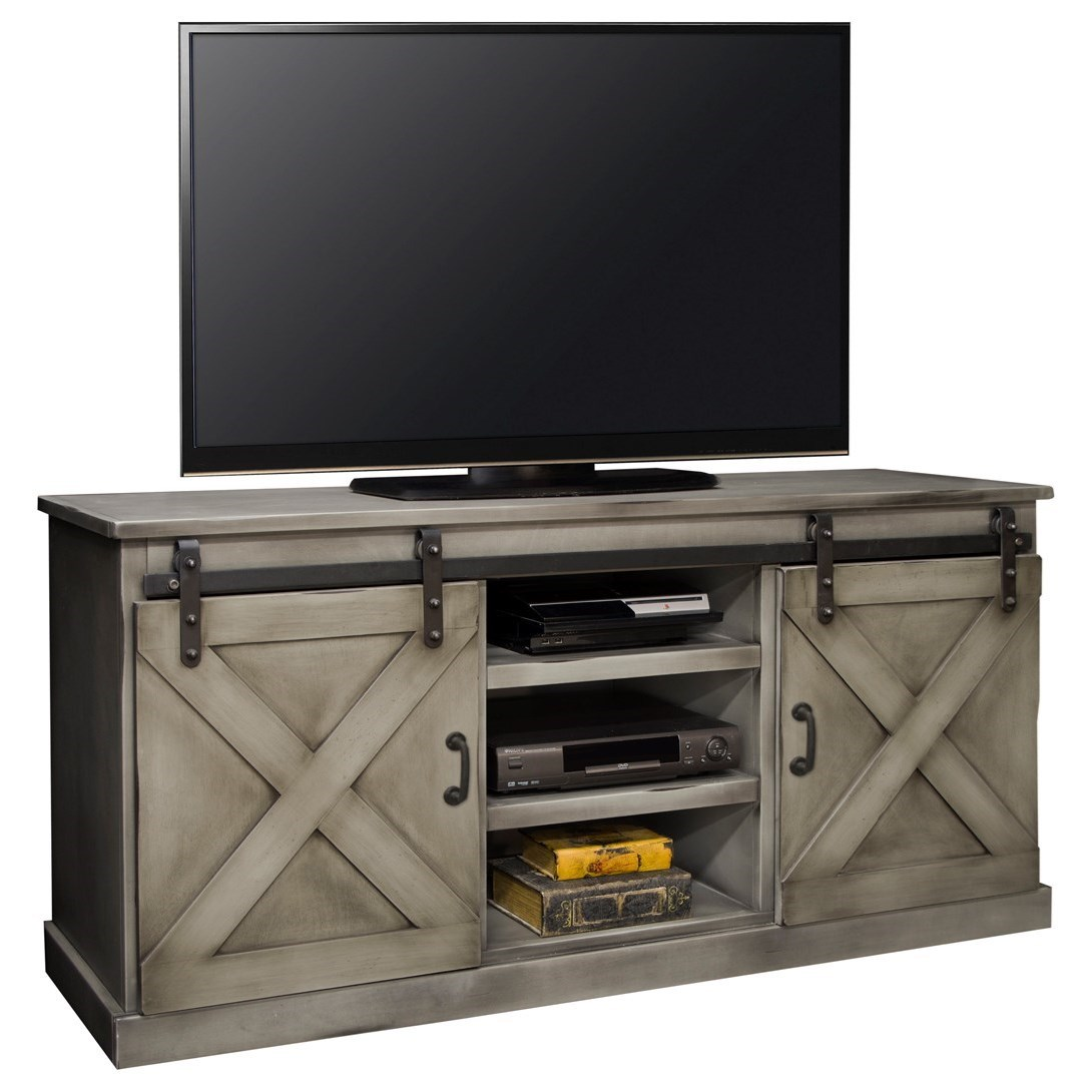 "Legends Furniture Farmhouse Collection Farmhouse 66"" TV Console - Item Number: FH1440-AGG"