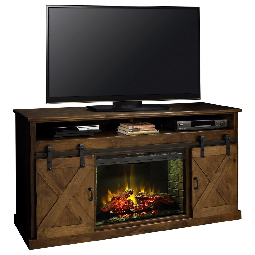 """66"""" Fireplace Console"""