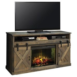 "Legends Furniture Farmhouse Collection 66"" Fireplace Console"