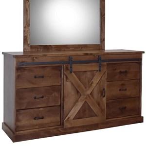 Vendor 1356 Farmhouse Collection Fh7103 Awy Rustic Deluxe 6 Drawer