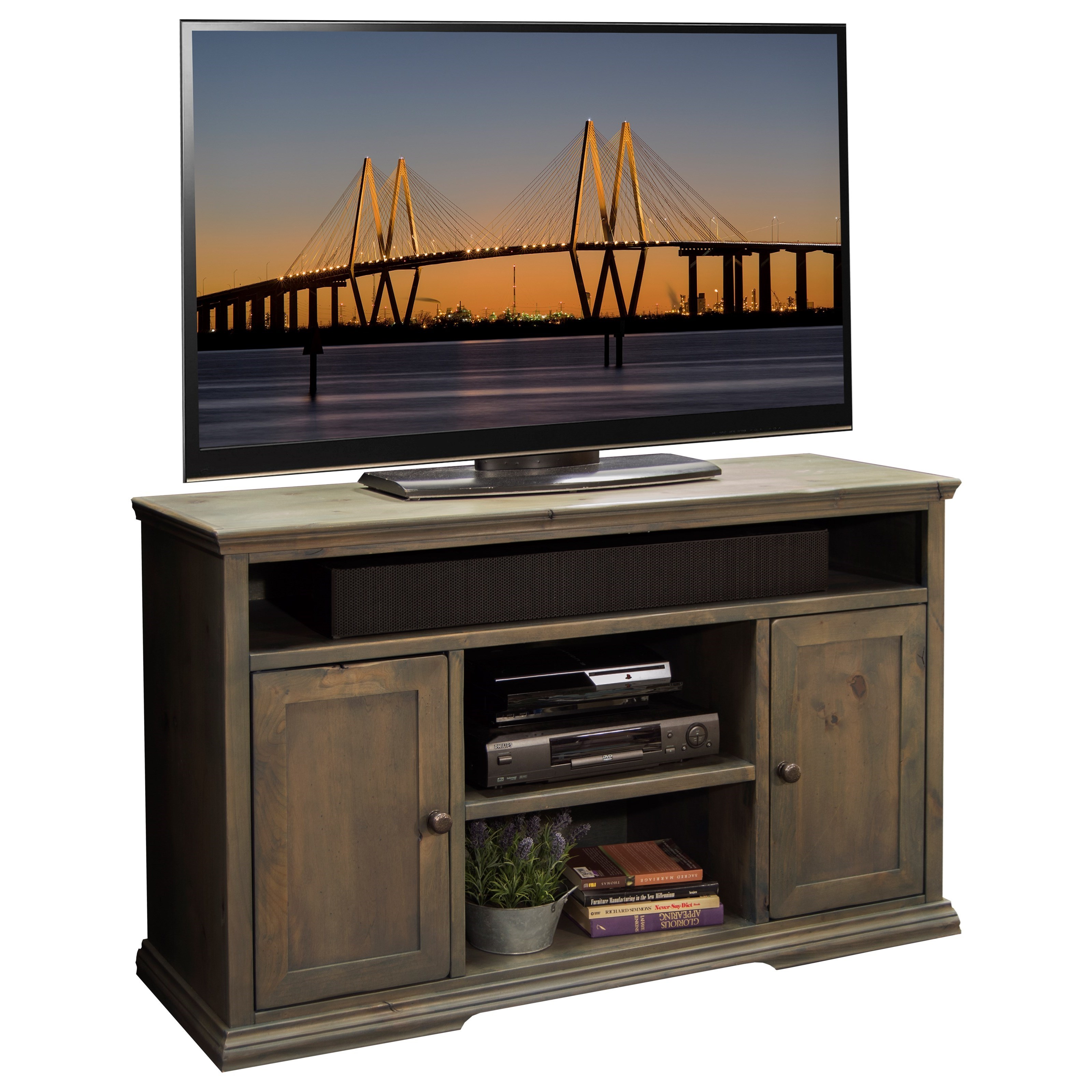 "Legends Furniture Greyson 54"" TV Cart - Item Number: GY1327"