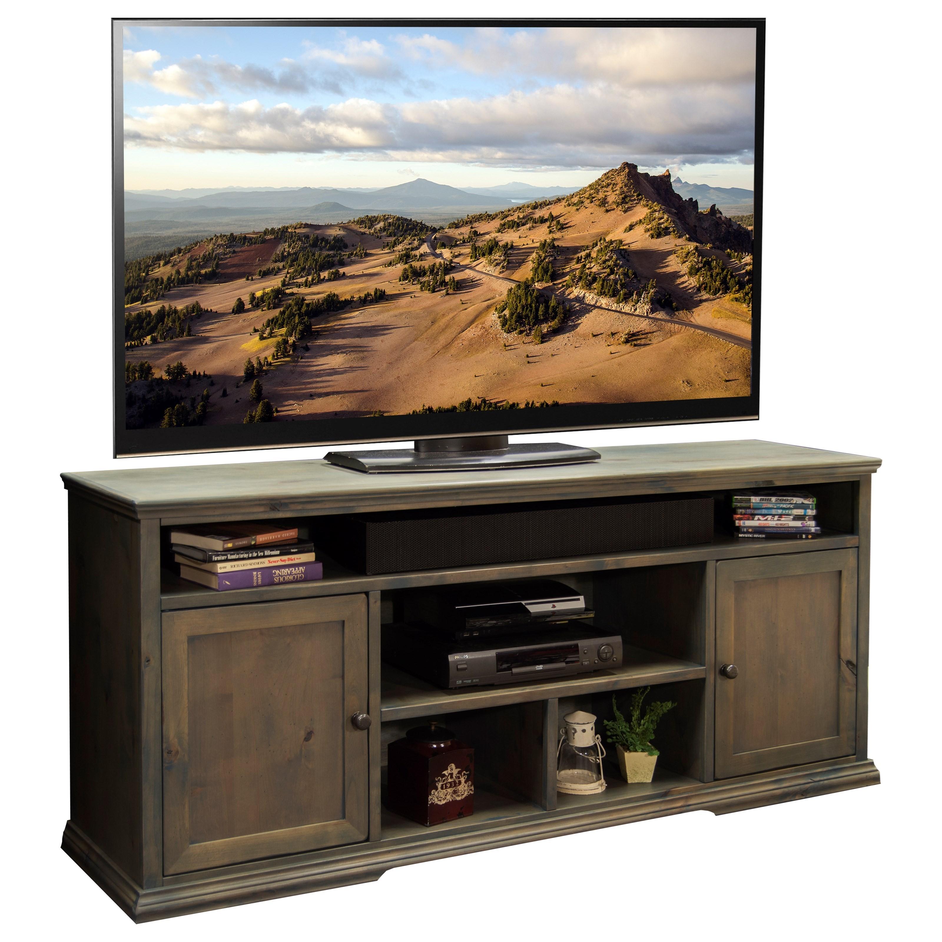 """Legends Furniture Greyson 74"""" TV Cart - Item Number: GY1331"""