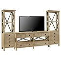 Legends Furniture Hideaway Entertainment Wall Unit - Item Number: ZHID-1762+2x3000
