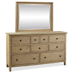 Legends Furniture Hideaway Dresser and Mirror Set
