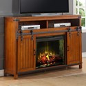 Legends Furniture Industrial Collection Industrial Fireplace Console - Item Number: ZIND-1900