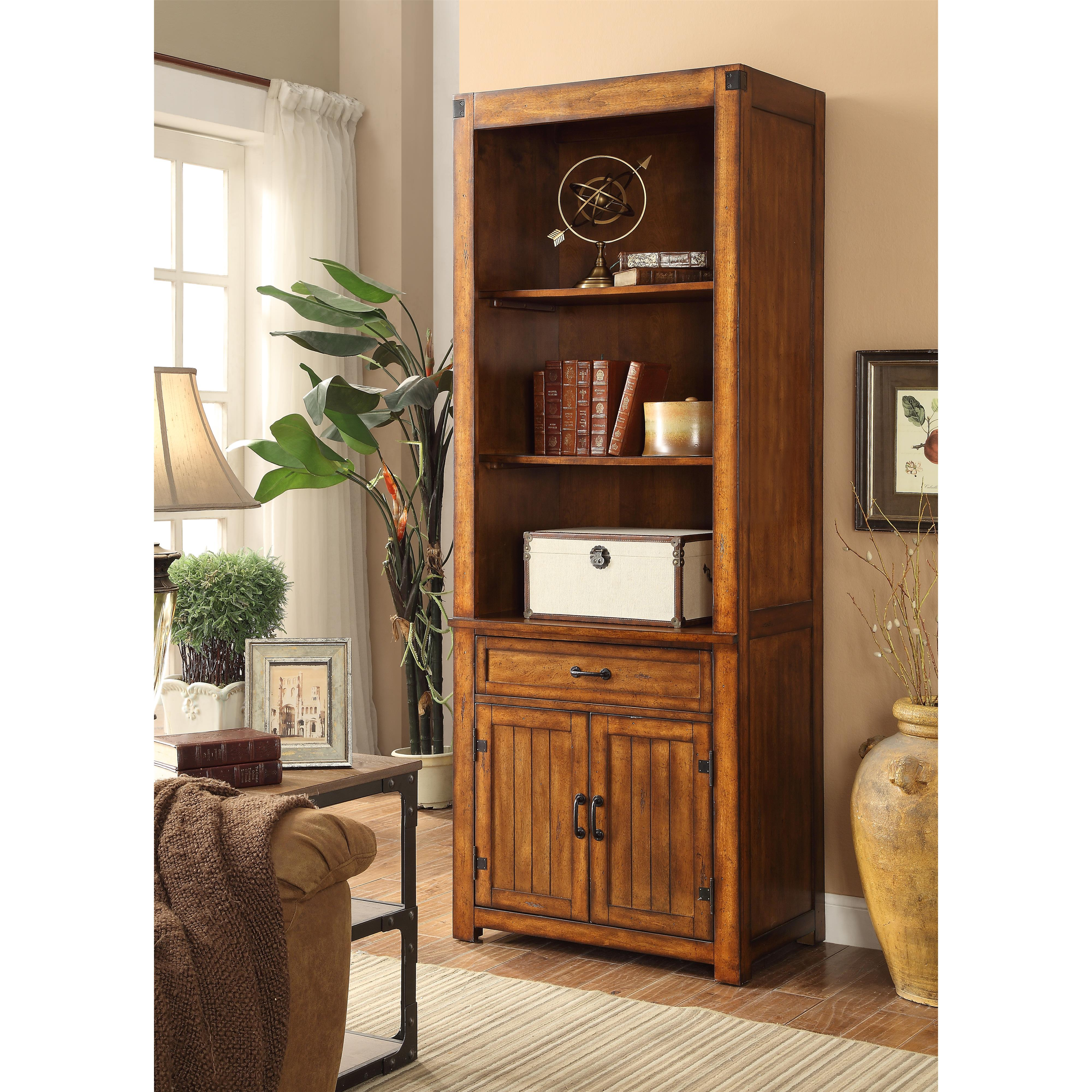 Legends Furniture Industrial Collection Industrial Bookcase Pier - Item Number: ZIND-3000