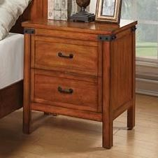 Legends Furniture Industrial Collection Industrial Nightstand - Item Number: ZIND-7015