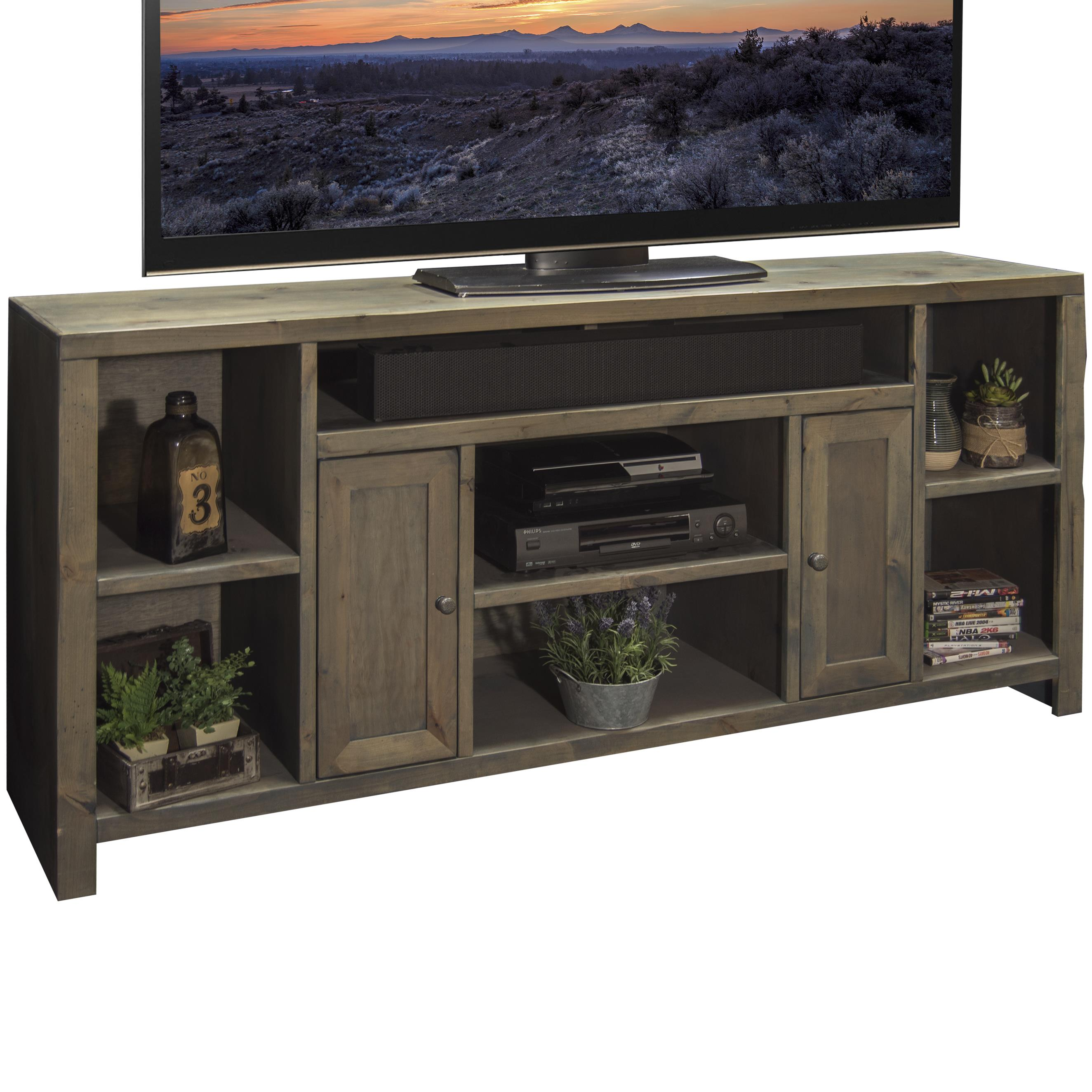 "Legends Furniture Joshua Creek 65"" TV Console - Item Number: JC1265-BNW"